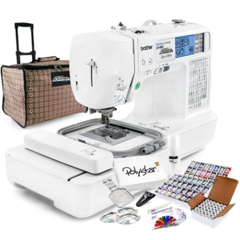 Brother LB-6800PRW Project Runway Computerized Sewing Embroidery Machine w/ USB Port and Grand Slam Package